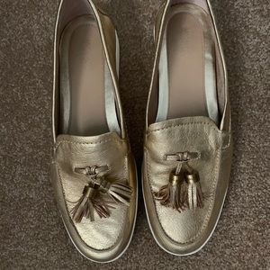 NEW Michael Kors Gold Loafer Shoes size 8.5